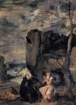 Anthony, Paul, and the raven - Velazquez